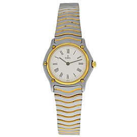 Ebel Classic Wave 181908 Ladies Yellow Gold Stainless Steel Quartz 26MM Watch