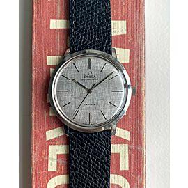 Vintage Omega De Ville Automatic Linen Textured Dial Serviced Steel Watch