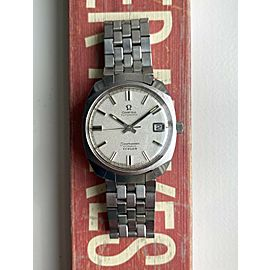 """Vintage Omega Seamaster Cosmic """"Turler"""" Stamp Automatic Texture Dial Steel Watch"""