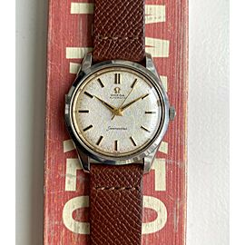 Vintage Omega Seamaster Automatic Silver Linen Dial Steel Case Serviced Watch