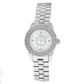 Dior Christal CD112113 Diamond Stainless Steel Ceramic Quartz 29MM Watch
