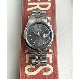 Vintage Rolex Datejust 1600 70s Automatic Grey Dial Oyster Case w/Bracelet Watch