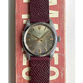"""Vintage Rolex Oyster Precision Ref 6426 Manual Wind """"Oxidized"""" Patina Dial Watch"""
