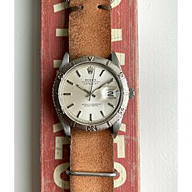 Vintage Rolex Datejust Thunderbird 1625 Automatic Silver Dial Oyster Case Watch