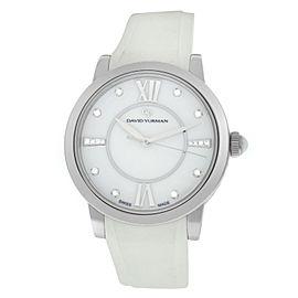 David Yurman Classic T727-M Ladies Diamond Ceramic Steel 38MM Quartz Watch