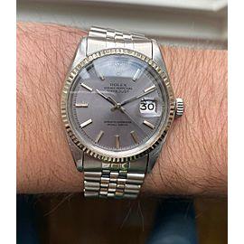 "Vintage Rolex Datejust 1601 Automatic ""Purplish"" Silver Dial w/ Bracelet Watch"