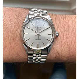 Vintage Rolex Air King Precision Ref 5500 Automatic Silver Dial 34mm Watch