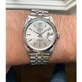 Tudor Prince Date Ref 74000 Silver Dial Quickset Date w/ Jubilee Bracelet Watch