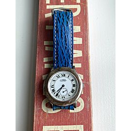 Vintage Cartier Rondo White Roman Numeral Dial Quartz w/ Original Strap Watch