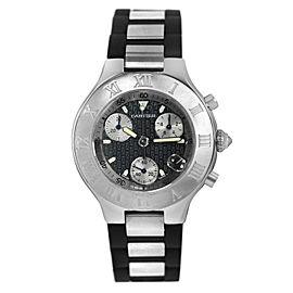 Cartier Chronoscaph 2424 Stainless Steel Unisex 38MM Date Watch