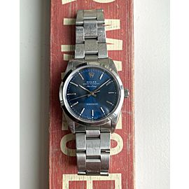 Rolex Air-King Oyster Perpetual Blue Dial Automatic Ref 14000