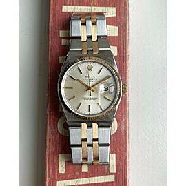 Vintage Rolex Datejust Oysterquartz 80s Quartz Two Tone Gold Silver Dial Watch