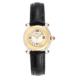 Chopard Happy Sport 5 Floating Diamond Yellow Gold Steel Watch 8246