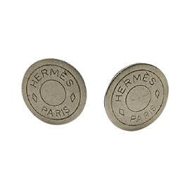 Hermes Silver Tone Hardware Bijouterie Fantaisie Earrings