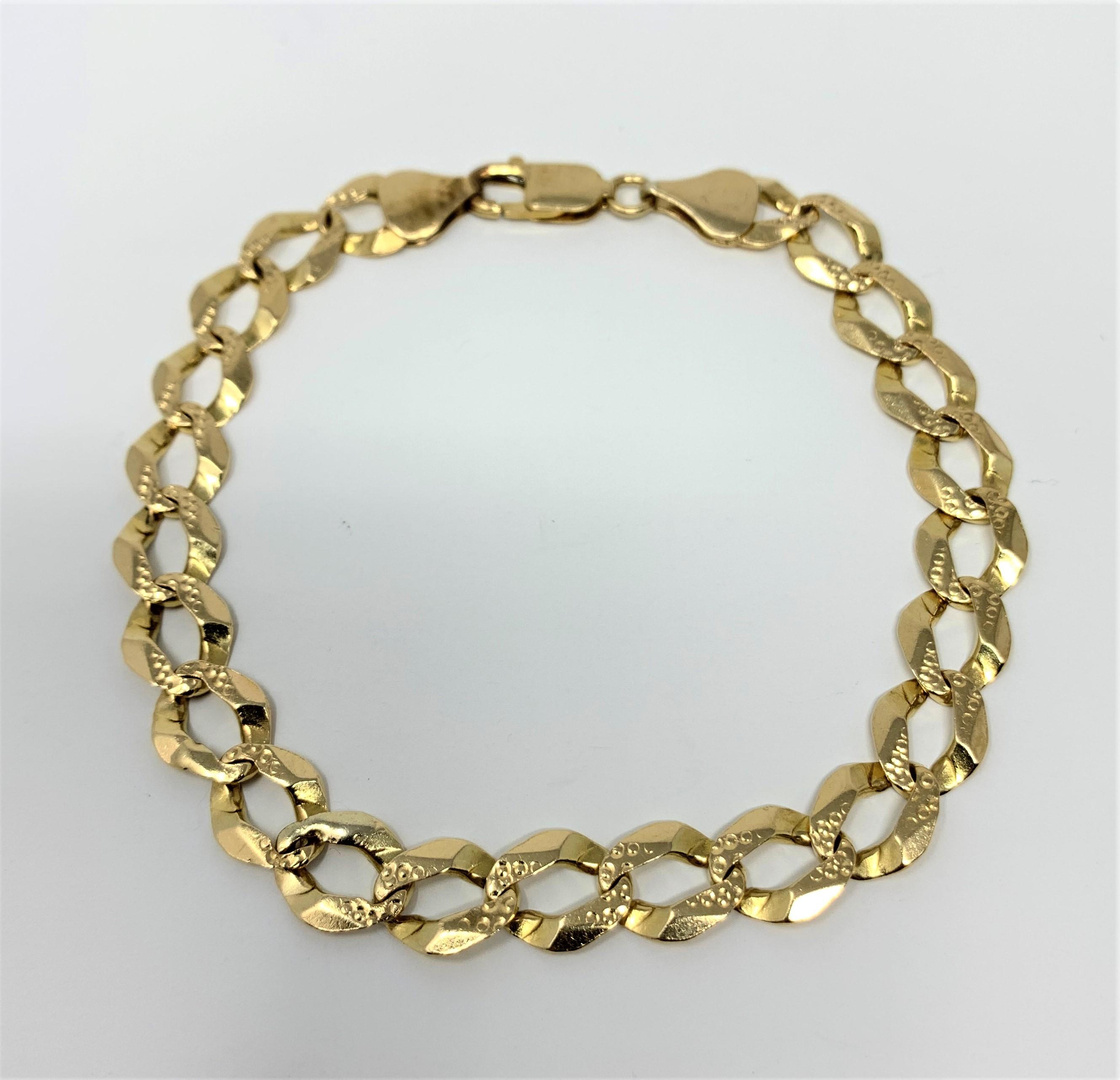 3858c43f2c4cd 14k Yellow Gold Curb Link Bracelet At Truefacet. Men S Curb Link Bracelet  10k Yellow Gold 8 ...