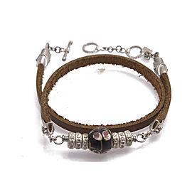 Stack Station Ancient Bead Leather Wrap Bracelet