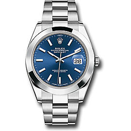 Rolex Oyster Perpetual Datejust 126300 blio Stainless Steel 41mm Mens Watch