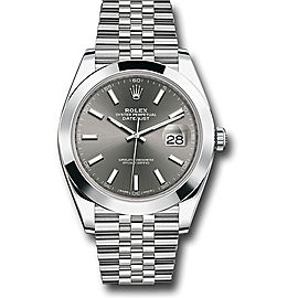 Rolex Oyster Perpetual Datejust 126300 DKRIJ Stainless Steel 41mm Mens Watch