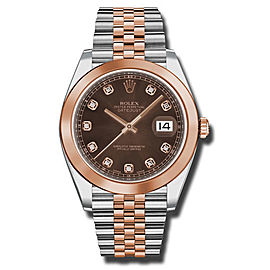 Rolex Two-Tone DateJust II 126301 CHODJ Rose Gold Chocolate Diamond Dial Watch