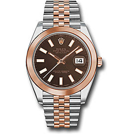 Rolex Oyster Perpetual Datejust Stainless Steel & 18K Pink Gold 41mm Mens Watch