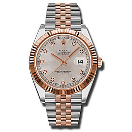 Rolex Two-Tone DateJust II 126331 sudj Rose Gold Sundust Diamond Dial Watch