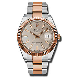 Rolex Two-Tone DateJust II 126331 suio Rose Gold Sundust Index Dial Watch