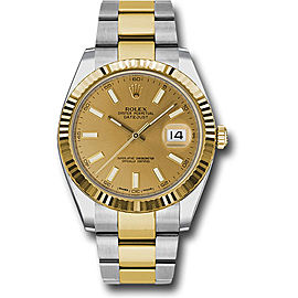Rolex Oyster Perpetual Datejust 126333 CHIO Stainless Steel and 18K Yellow Gold 41mm Mens Watch