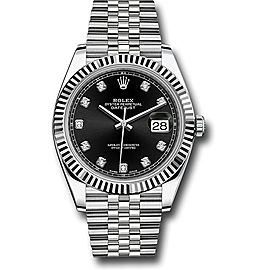 Rolex Oyster Perpetual Datejust 126334 BKDJ Stainless Steel 41mm Mens Watch