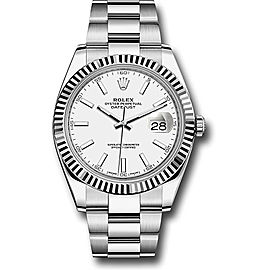 Rolex Oyster Perpetual Datejust Stainless Steel 41mm Mens Watch