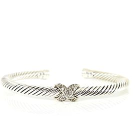 David Yurman Silver Ice Sterling Silver Diamond Bracelet