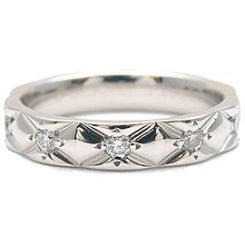 CHANEL Matelasse Ring 10P Diamond Platinum #48 US4.5 EU48