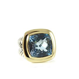 David Yurman Albion Sterling Silver Blue Topaz Ring