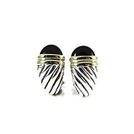 David Yurman Waverly Sterling Silver Black Onyx Earrings