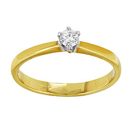 Saya 18K Yellow & White Gold with 0.21ctw Diamond Engagement Ring Size 8.25