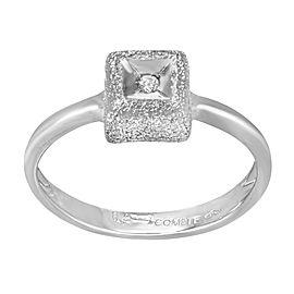 Saya 18K White Gold with 0.02ct Diamond Ring Size 8