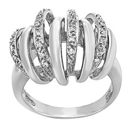 Saya 18K White Gold with 0.17ctw Diamond Cocktail Ring Size 7.5