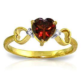 0.96 CTW 14K Solid Gold Soul Mate Garnet Diamond Ring