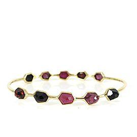 Ippolita Rock Candy Gelato 18k Yellow Gold Ruby, Rhodolite Garnet, Garnet, Onyx Bracelet