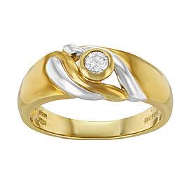 Salvini 18K Yellow & White Gold with 0.15ct Diamond Ring Size 8