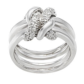 Saya 18K White Gold with 0.18ct Diamond Cocktail Ring Size 7