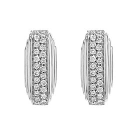 Salvini 18K White Gold with 0.68ctw Diamonds Huggie Earrings