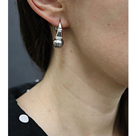 Salvini 18K White Gold Cultured Pearl, Diamond Earrings
