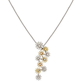 Recarlo 18K White & Yellow Gold with 1.19ctw Diamonds Pendant Necklace