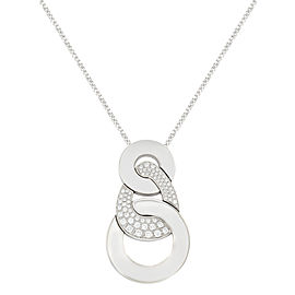 Salvini 18K White Gold with 1.30ctw Diamonds Pendant Necklace