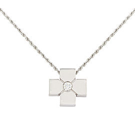 Salvini 18K White Gold with 0.09ctw Diamond Pendant Necklace