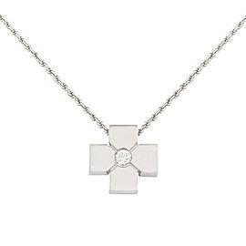 Salvini 18K White Gold with 0.09ctw Diamond Pendant Necklace