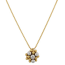 Saya 18K Yellow and White Gold with 0.05ct Diamonds Pendant Necklace