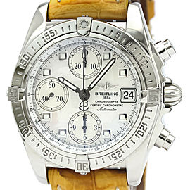 Polished BREITLING Chrono Cockpit MOP Dial Steel Automatic Watch A13357