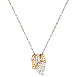 18K White, Yellow and Rose Gold with 0.67ctw. Diamonds Pendant Necklace