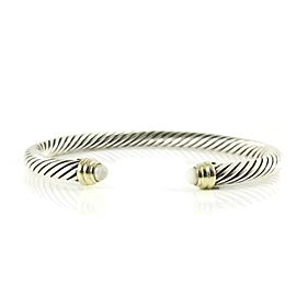 David Yurman Color Classic Sterling Silver Pearl Bracelet